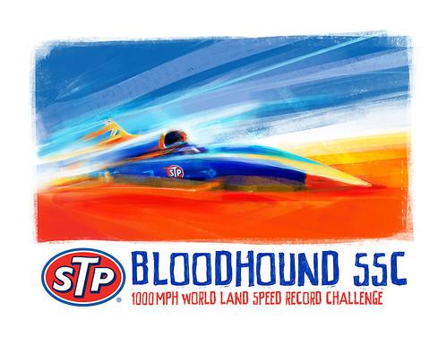 STP Autosport Show Art by Stefan Marjoram