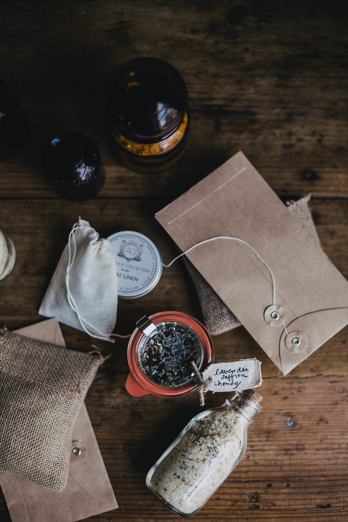 DIY Gifts: Satsuma Herb de Provence Salt & Saffron Lavender Honey // Kinfolk Workshop TN