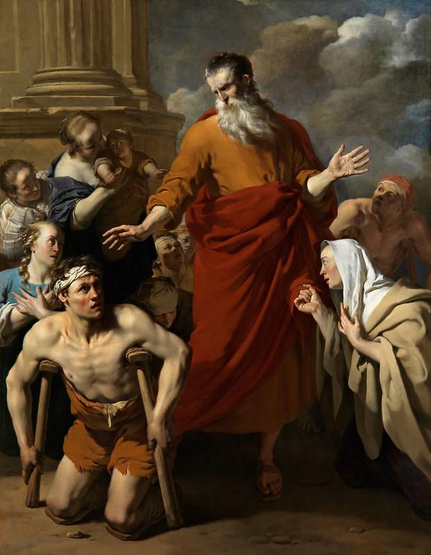 Karel Dujardin - Paulus geneest de kreupele te Lystra (c.1663)