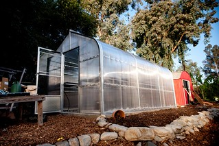 Students completed the construction of a new greenhouse at Pomona's Organic Farm in fall 2013