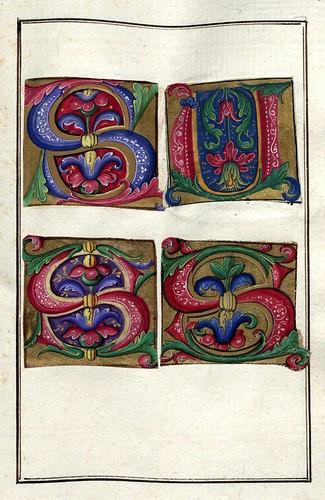 008-Álbum de las iníciales medievales -fol 38r- Biblioteca Nacional de Polonia