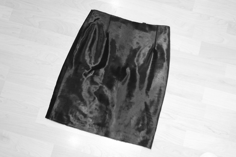 topshop boutique ponyskin skirt