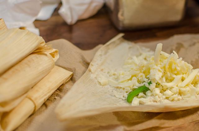 Making jalapeno cheese tamales