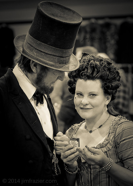 Mr. Lincoln shops for a gift for Mrs. Lincoln before date night at the theater.
