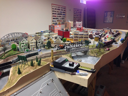 My late grandfather's model train - 50 years of collecting and work. Amazing.