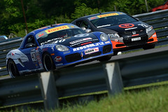 ALMS and Pirelli World Challenge racing at Lime Rock Park 6th July 2013
