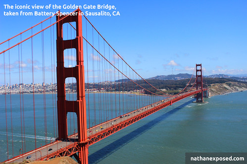 The best view of the Golden Gate Bridge overlooking San Francisco, CA