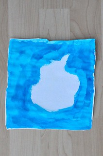 Antarctica map wax resist