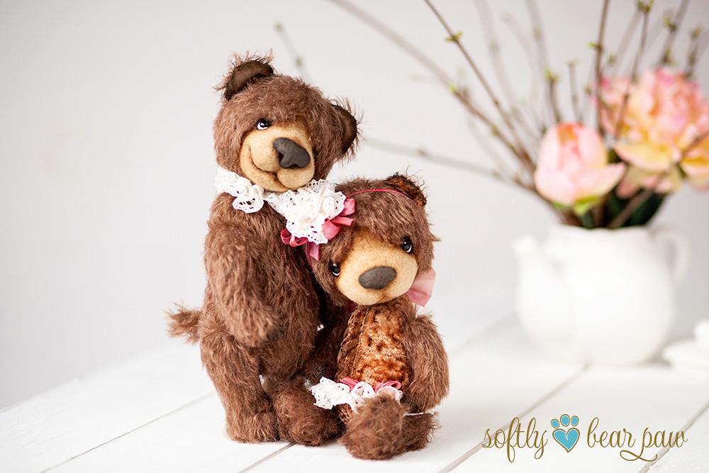 Softly Bear Paw: Two Artist OOAK Handmade mohair teddy bears Terra and ...