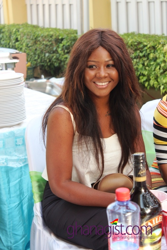 Actress Nana Akua Addo outdoor baby