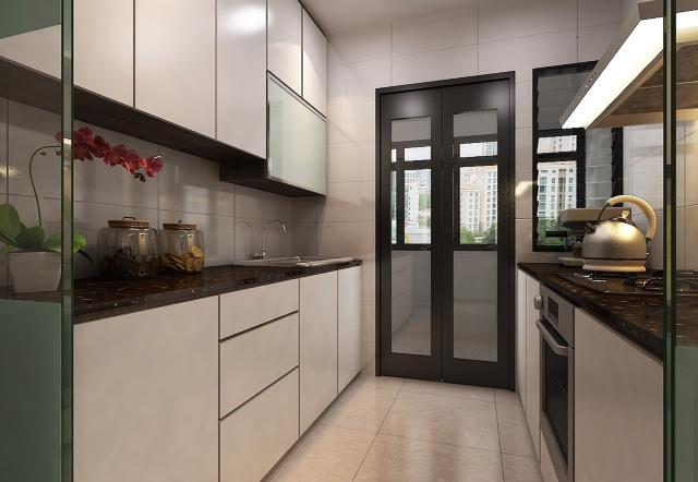 HDB flat at CASA Clementi and it takes about one month to finish  The  total cost came up to  30 000  Check out the designs of the living room   kitchen   HDB 4 Room CASA Clementi Renovated    30k. Hdb 4 Room Kitchen Design. Home Design Ideas
