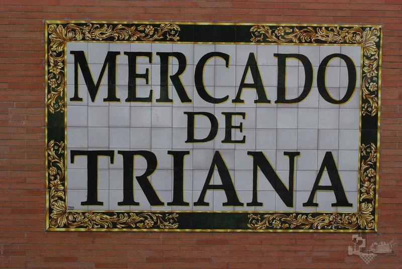 Mercado de Triana, en la Plaza del Altozano, Triana, Sevilla.