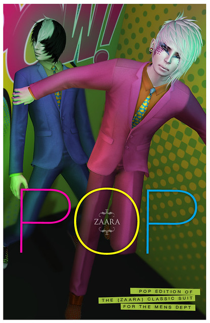 Zaara : classic suit pop edition for The Mens Dept