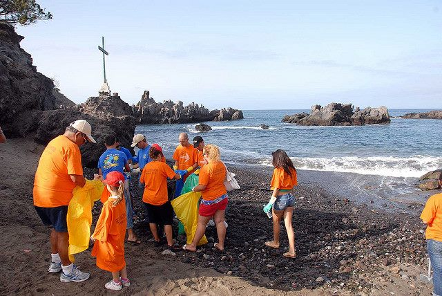 Beach Clean up in Alcala, Tenerife