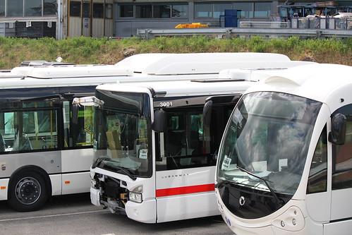 L'Urbanway n�3001 est vu en pr�paration chez Iveco Bus � Annonay