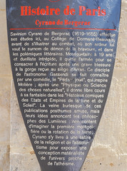 Photo of Hercule-Savinien Cyrano de Bergerac brown plaque