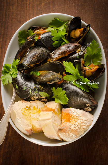 Cooked mussles