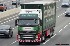 Volvo FH 6x2 Tractor with 3 Axle Curtainside Trailer - PX11 CBO - H4712 - Mackenzie Jade - Eddie Stobart - M1 J10 Luton - Steven Gray - IMG_4531
