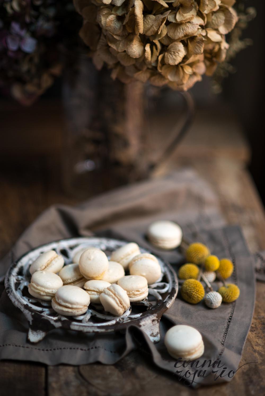 macarons con ganache de chocolate blanco