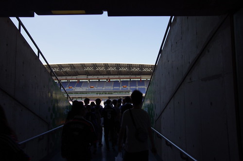 スタジアムへ