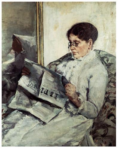 014 Leyendo el Figaro-1878- Pintura al oleo- Mary Cassatt.