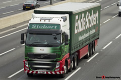 Volvo FH 6x2 Tractor with 3 Axle Curtainside Trailer - PX11 BWO - H4632 - Trudy - Eddie Stobart - M1 J10 Luton - Steven Gray - IMG_1059