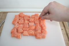 26 - Lachs salzen / Salt salmon