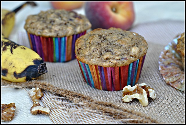 Healthy Banana Oat Muffins 3