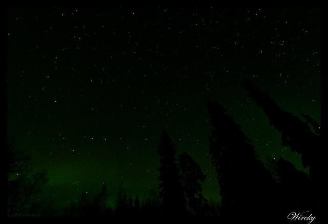 Laponia aurora boreal - Estrellas previas a la aurora boreal