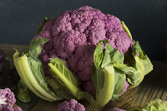 Raw Organic Purple Cauliflower