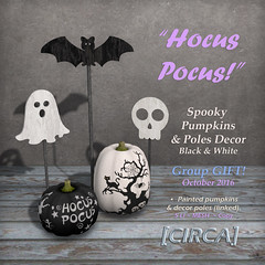 CIRCA Group Gift ~ Hocus Pocus! - Spooky Pumpkins & Poles Decor (GG'16)