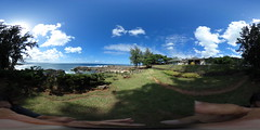 Three Tables at Pupukea Beach Park on the North Shore of Oahu, Hawaii  - A 360 degree Equirectangular VR