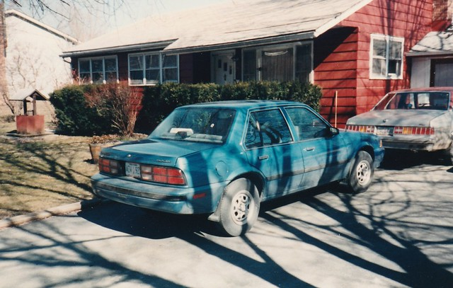 MY PARENTS BRAND NEW 1988 CHEVY CAVALIER IN APRIL 1988