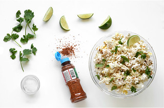 spicy popcorn topping limes cilantro salt pepper seasoning | by Berries.com