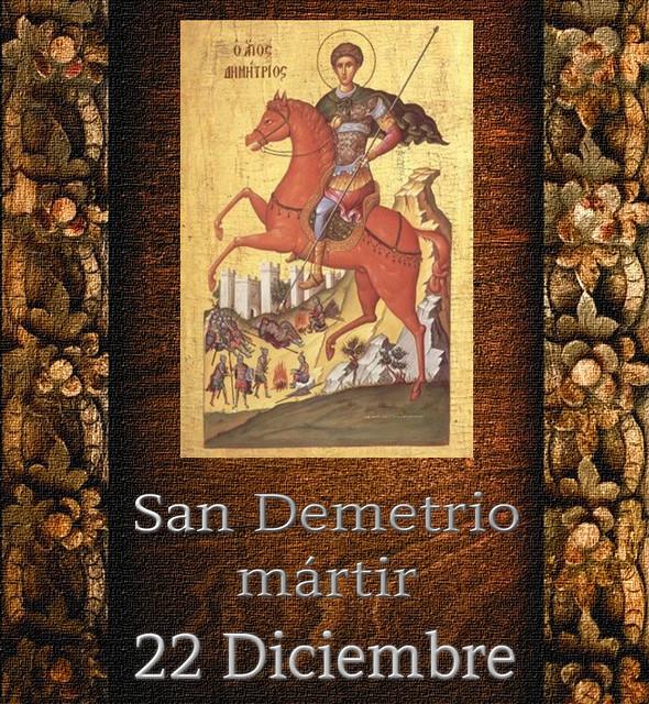 San Demetrio ( mártir).(†Dedicado  al P.Cotallo)