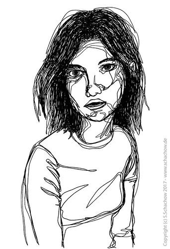 , One-line drawing of a woman + video http://www.schachow.de/ein-strich- drawing-einer-frau-video/, My cartoon Blog, My cartoon Blog