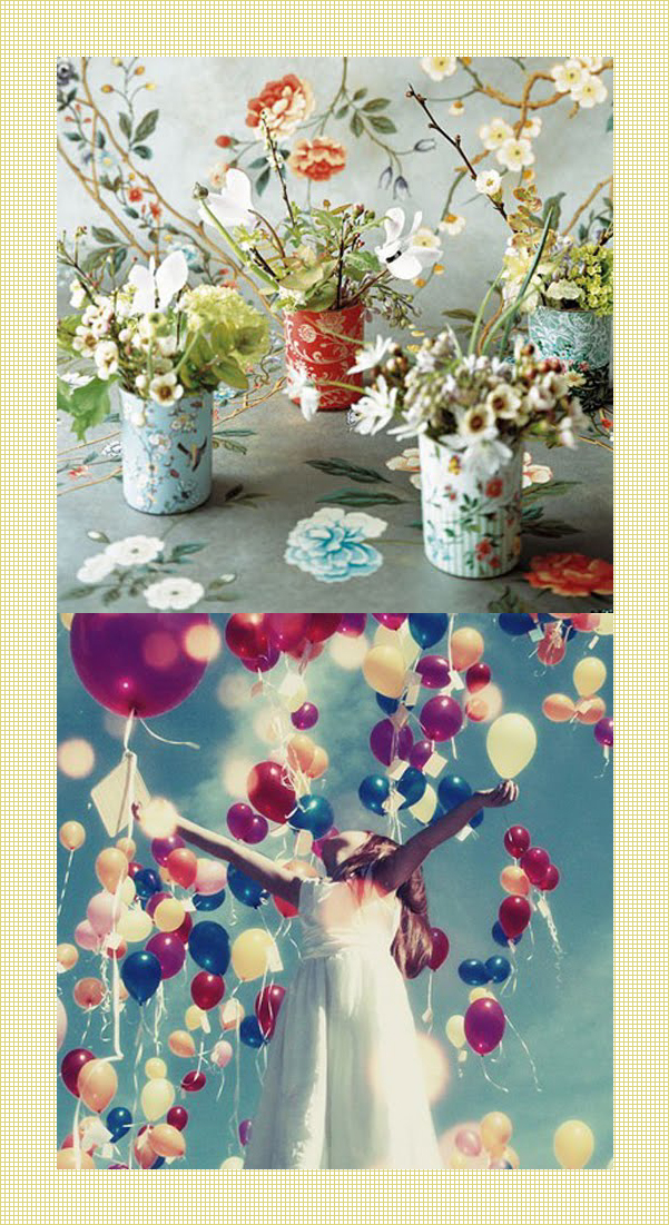 colour pinning : blossom & balloons - curated by Emma Lamb