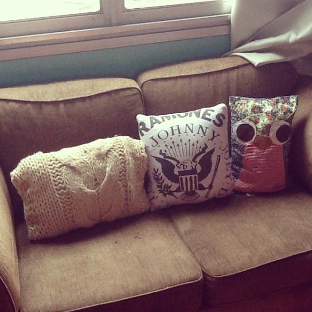 Almofadas feitas em casa