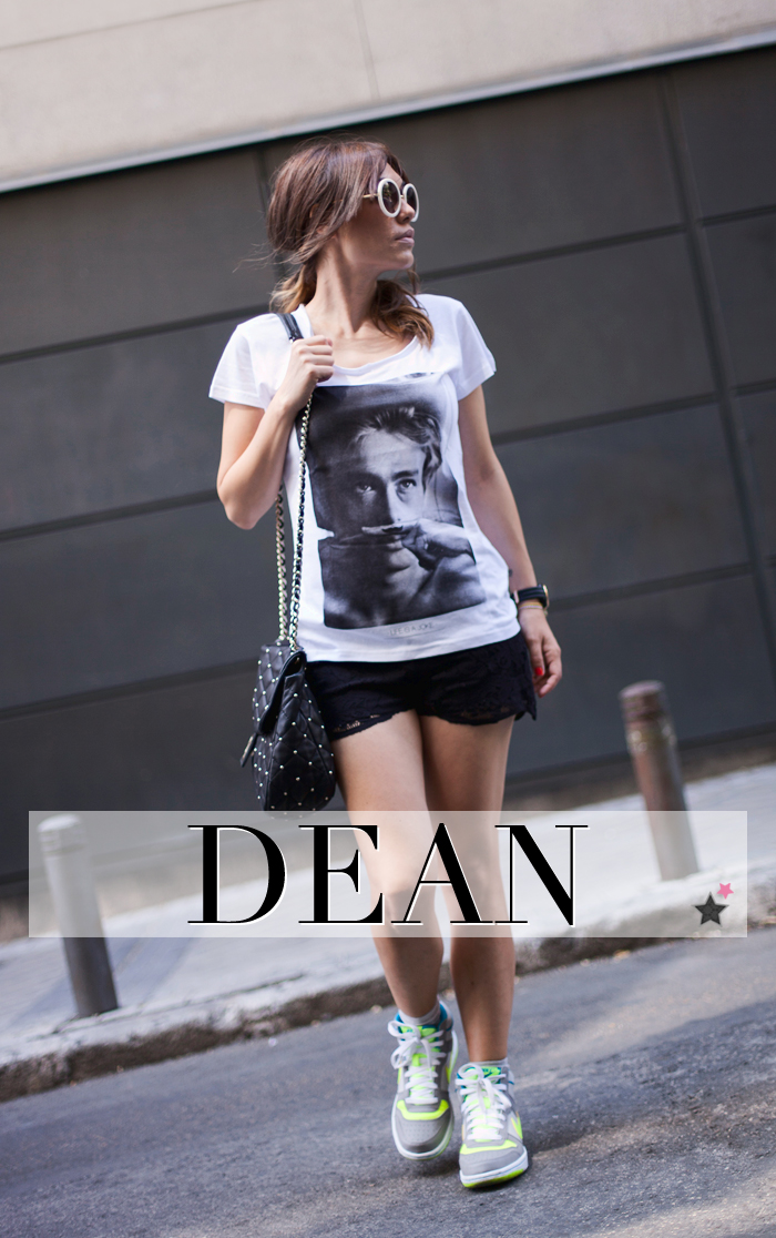 street style james dean tshirt eleven paris moustache