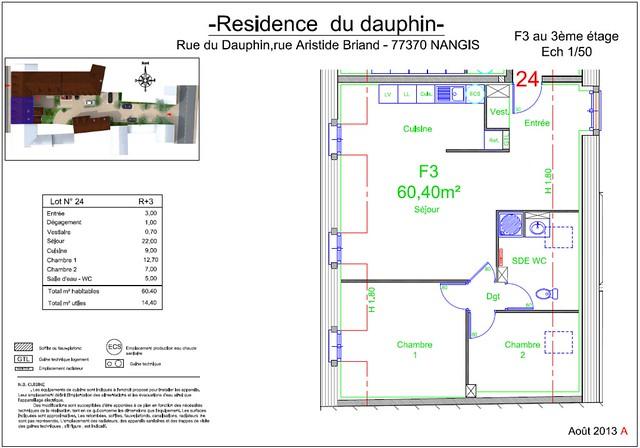 Résidence du Dauphin - Plan de vente - Lot n°24