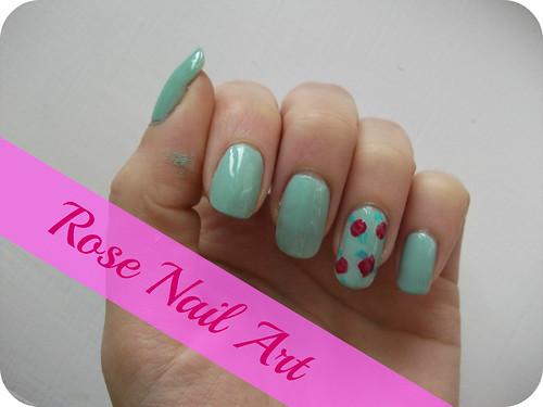 Rose Nail Art NOTD