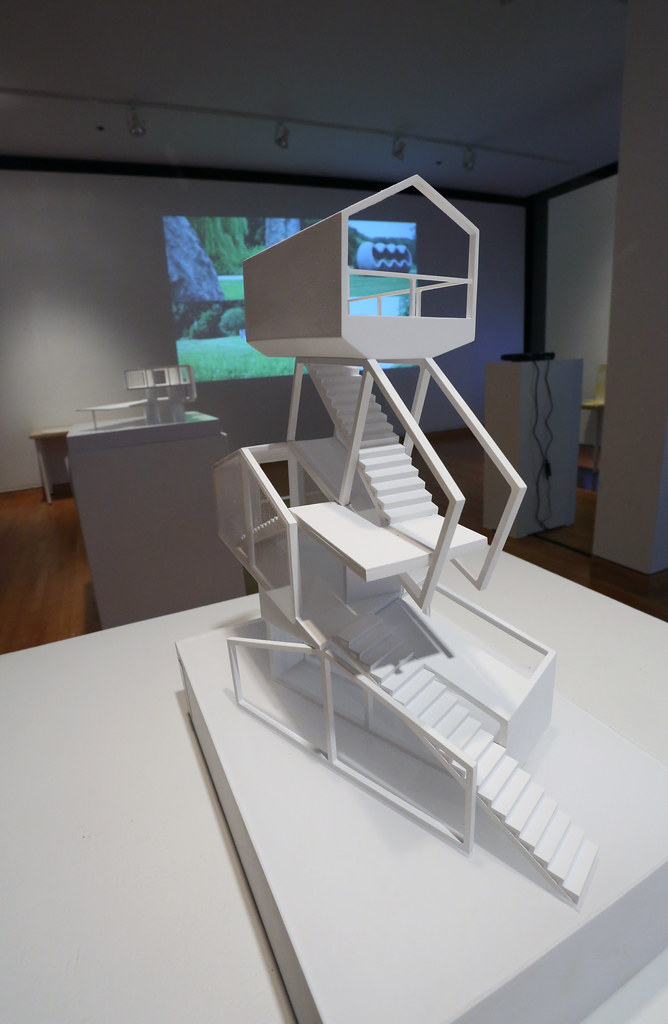 A central model in the gallery.