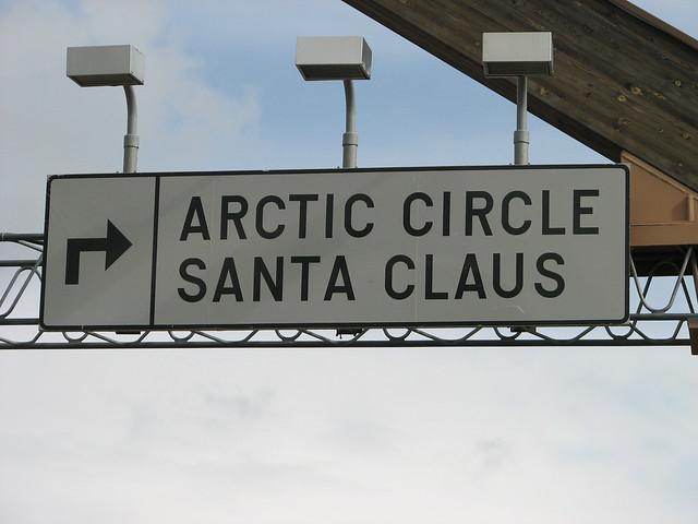Papá Noel en el círculo polar ártico
