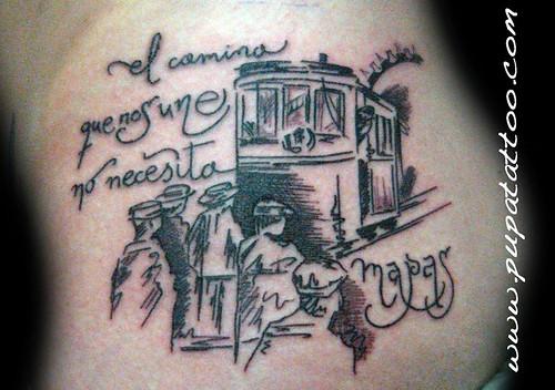 Tatuaje tranvia, Pupa Tattoo Granada by Marzia PUPA Tattoo