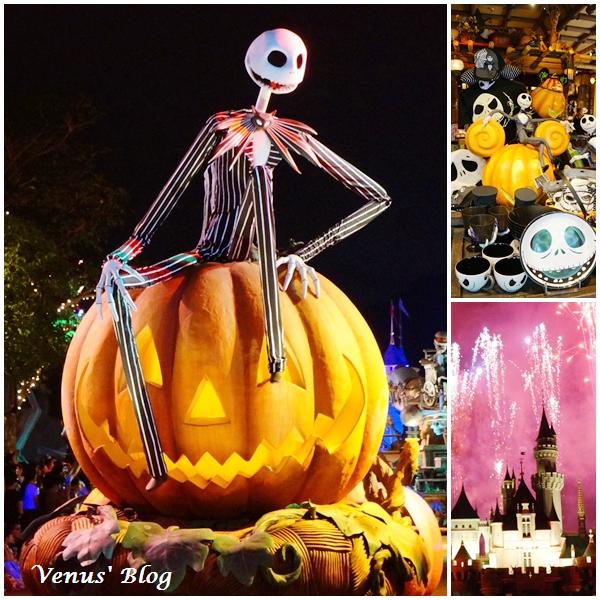【香港】香港迪士尼黑色世界,万圣节夜间游行超级精彩