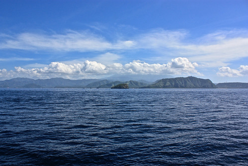 Arriving Lombok by ferry