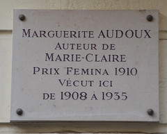 Photo of Marguerite Audoux white plaque