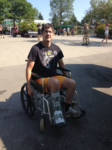 Mike In His Wheelchair, At The Zoo