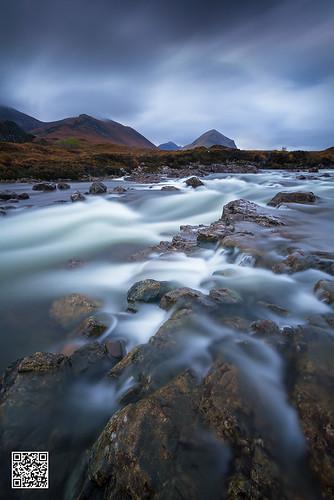 skye river long exposure mood waterfalls cascades sligachan marsco