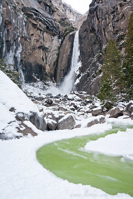 Winter, Lower Yosemite Falls, Yosemite National Park, California, 2011